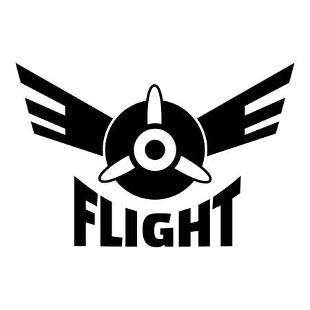 Air flight logo. Simple illustration of air flight logo for web design isolated on white background Foto de archivo