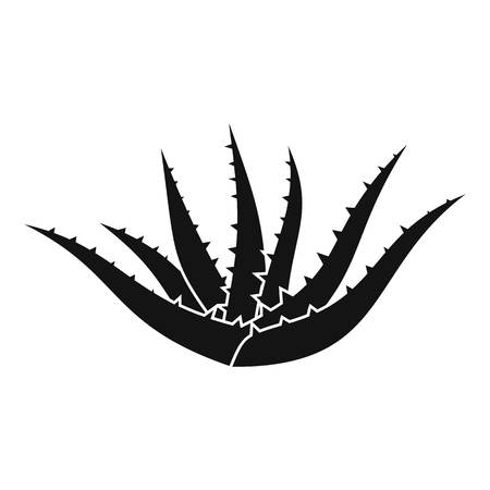 Aloe plant icon. Simple illustration of aloe plant icon for web design isolated on white background