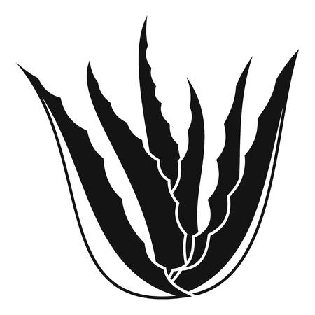 Aloe vera plant icon. Simple illustration of aloe vera plant icon for web design isolated on white background