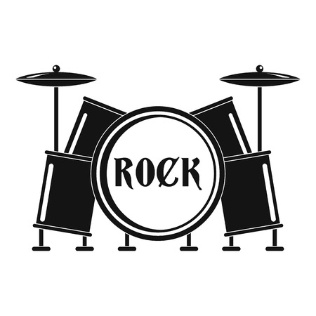 Rock drums icon. Simple illustration of rock drums icon for web design isolated on white background