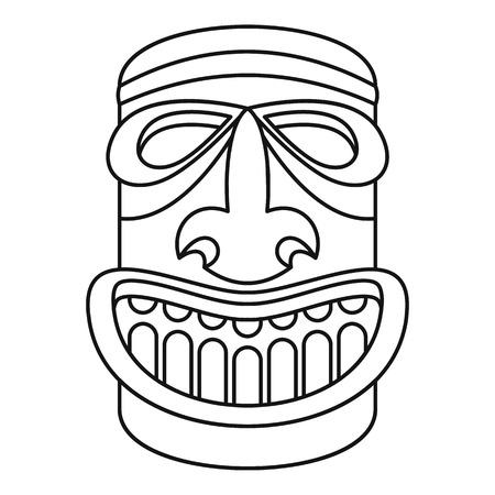 Wood idol icon. Outline wood idol icon for web design isolated on white background Stock Photo