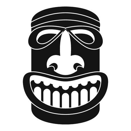 Tiki idol smile icon. Simple illustration of tiki idol smile icon for web design isolated on white background Stock Photo