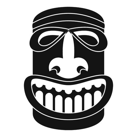 Tiki idol smile icon. Simple illustration of tiki idol smile icon for web design isolated on white background Stock fotó