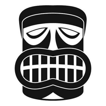 Hawaii wood idol icon. Simple illustration of hawaii wood idol icon for web design isolated on white background Фото со стока