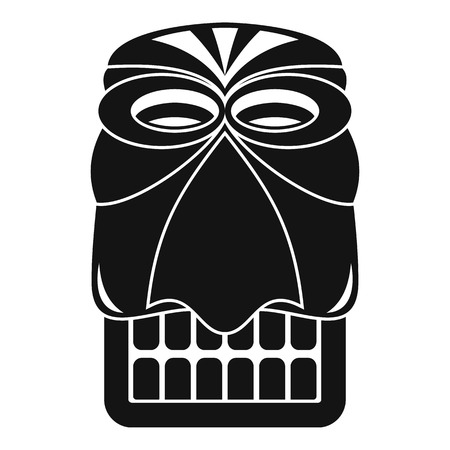 Wood tiki idol icon. Simple illustration of wood tiki idol icon for web design isolated on white background