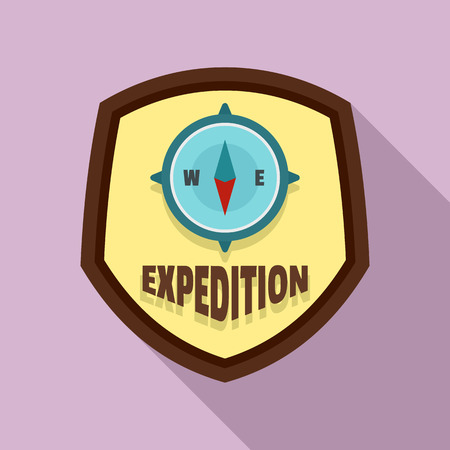 Flat illustration of expedition   for web design Stock Photo