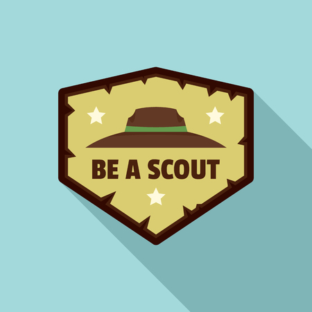 Flat illustration of be scout  for web design