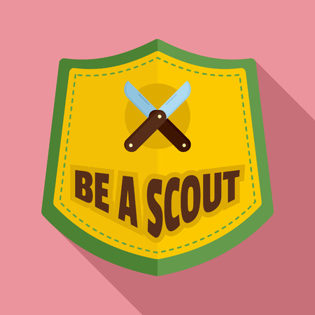 Flat illustration of be a scout   for web design