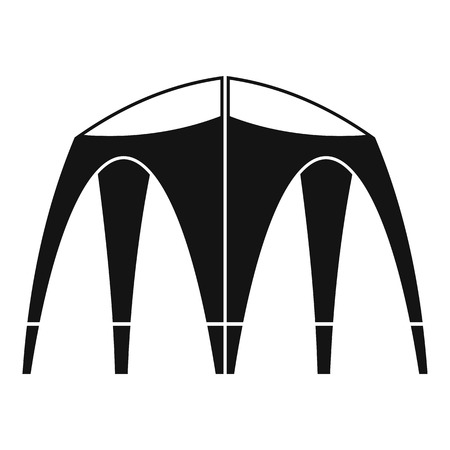 Outdoor tent icon, simple style Stock Photo