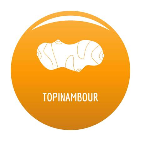 Topinambour icon. Simple illustration of topinambour vector icon for any design orange