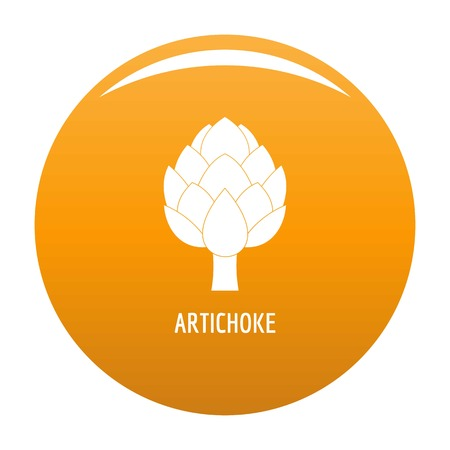 Artichoke icon vector orange