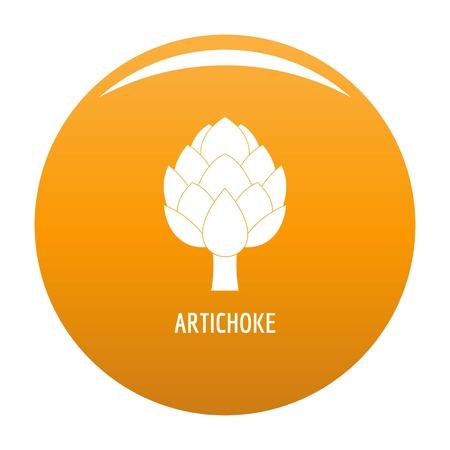 Artichoke icon vector orange