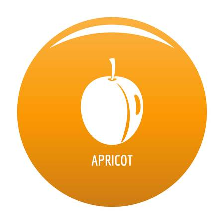 Apricot icon. Simple illustration of apricot vector icon for any design orange
