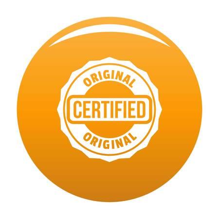 Logotipo certificado, estilo sencillo.