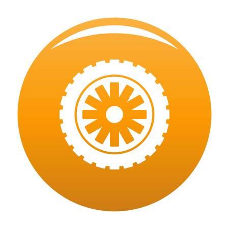 Rubber protector icon vector orange Illustration