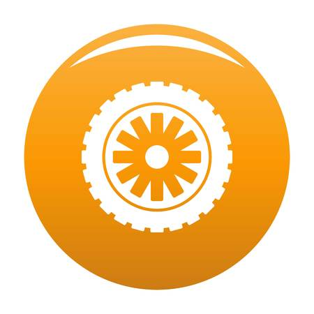 Rubber protector icon vector orange Illustration