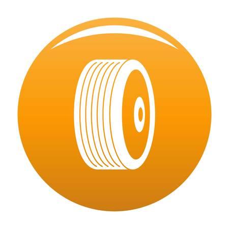 Disk icon vector orange