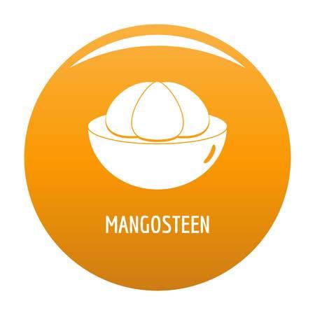 Mangosteen icon vector orange