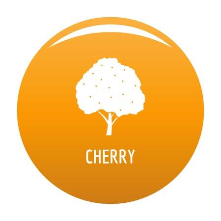 Cherry icon vector orange