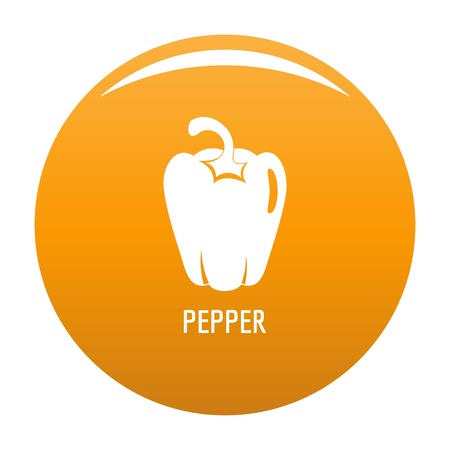 Pepper icon. Simple illustration of pepper vector icon for any design orange