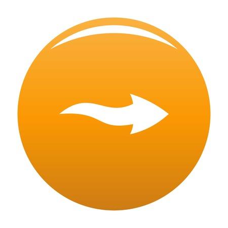 Arrow icon vector orange Stock Photo - 106282014