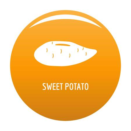 Sweet potato icon vector orange