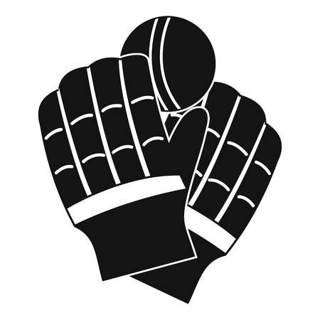 Cricket gloves logo, simple style 写真素材 - 106263843