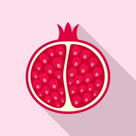 Half of the pomegranate icon