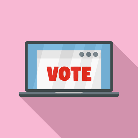 Online vote icon. Flat illustration of online vote icon for web design
