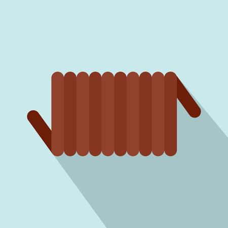 Cord spring coil icon. Flat illustration of cord spring coil icon for web design Stock Illustration - 106161985