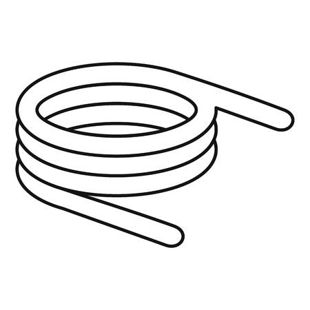 Spiral spring icon. Outline spiral spring icon for web design isolated on white background