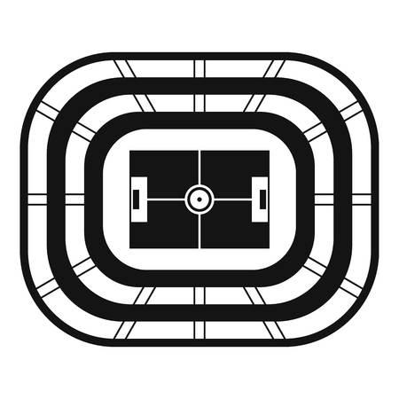 Top view stadium icon, simple style