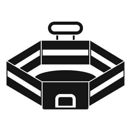 Baseball stadium icon, simple style