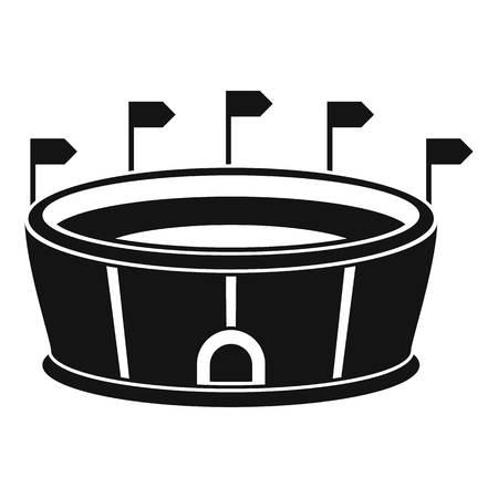 Sport round stadium icon, simple style Stock Photo