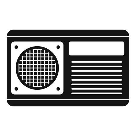 Icône de ventilateur de conditionneur, style simple Banque d'images