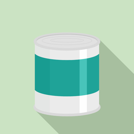 Food tin can icon. Flat illustration of food tin can icon for web design