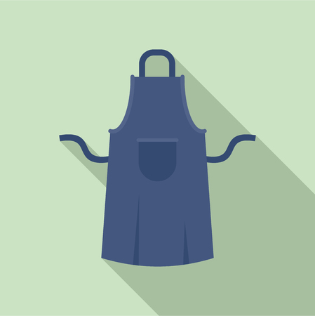 Worker apron icon. Flat illustration of worker apron icon for web design Foto de archivo - 106171302