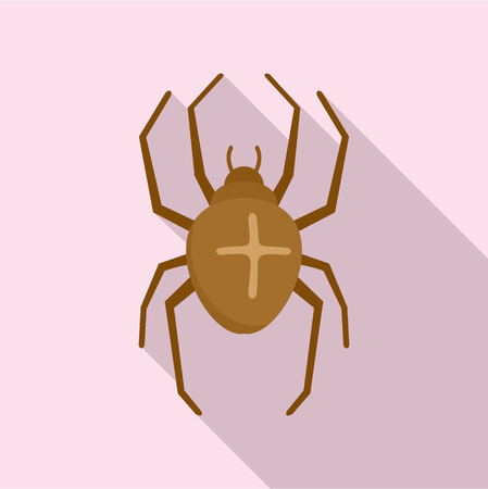 Cross spider icon. Flat illustration of cross spider icon for web design