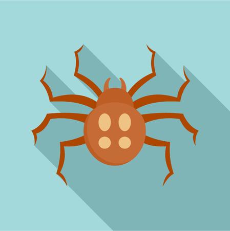 Garden spider icon. Flat illustration of garden spider icon for web design