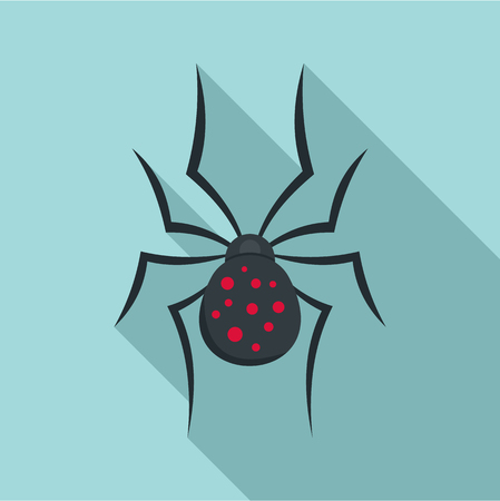 Spider icon. Flat illustration of spider icon for web design