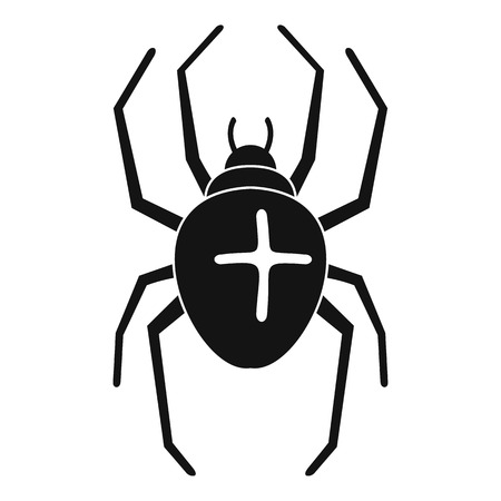 Cross spider icon. Simple illustration of cross spider icon for web design isolated on white background