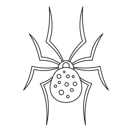 Spider icon. Outline spider icon for web design isolated on white background