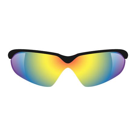 Sport glasses mockup. Realistic illustration of sport glasses mockup for web design isolated on white background