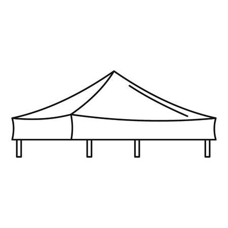 Piramide tent icon. Outline illustration of piramide tent icon for web design isolated on white background Stockfoto