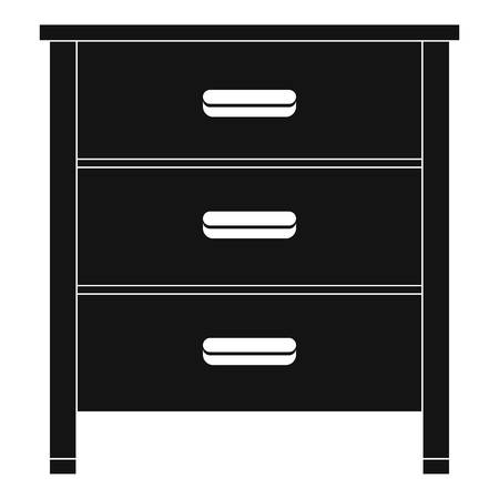 Drawer icon. Simple illustration of drawer icon for web design isolated on white background Stock Photo