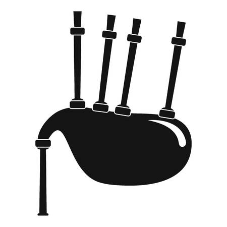 Bagpipes icon. Simple illustration of bagpipes icon for web design isolated on white background