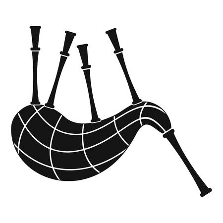 Musical bagpipes icon. Simple illustration of musical bagpipes icon for web design isolated on white background