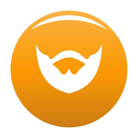 Clipped beard icon. Simple illustration of clipped beard icon for any design orange