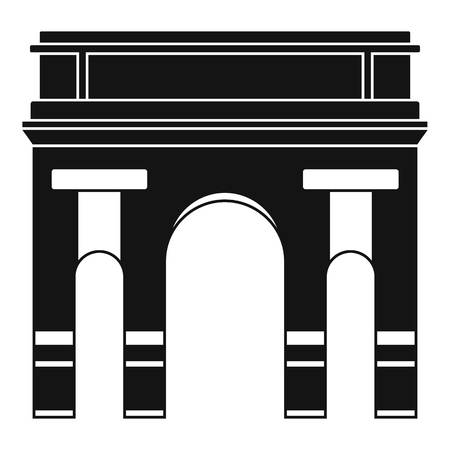 Historical arch icon, simple style Stock Photo