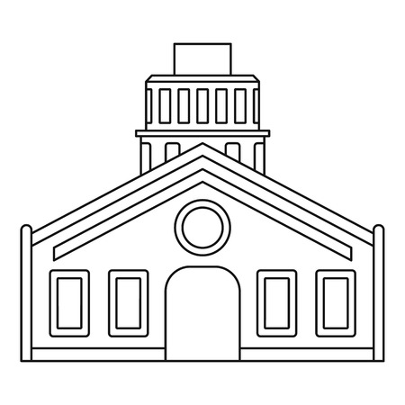 Chapel icon, outline style